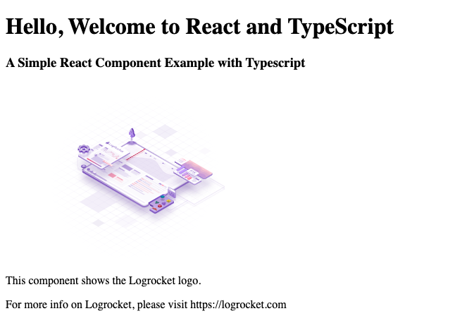 React and TypeScript Component Example