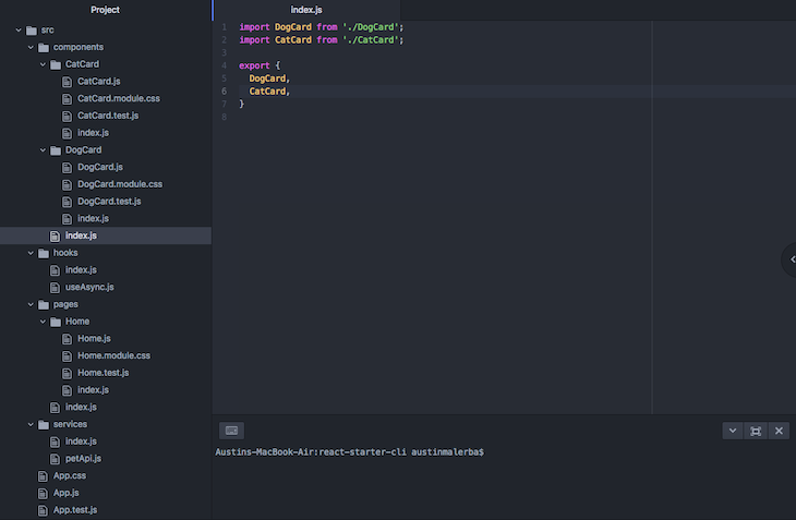 Plop.js Project Structure In Code