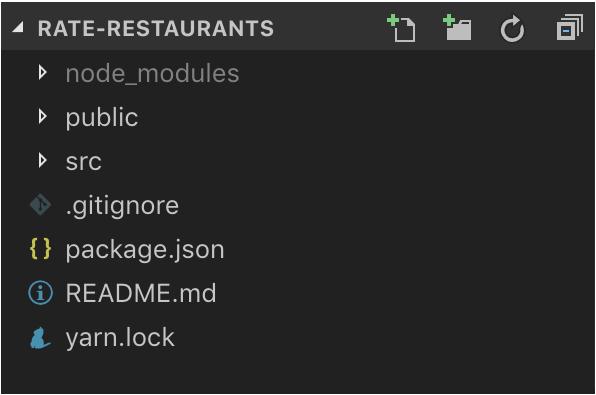 create react app rate-restaurants app directory structure