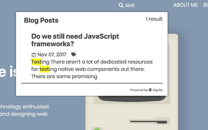 GatsbyJS Example: Searching
