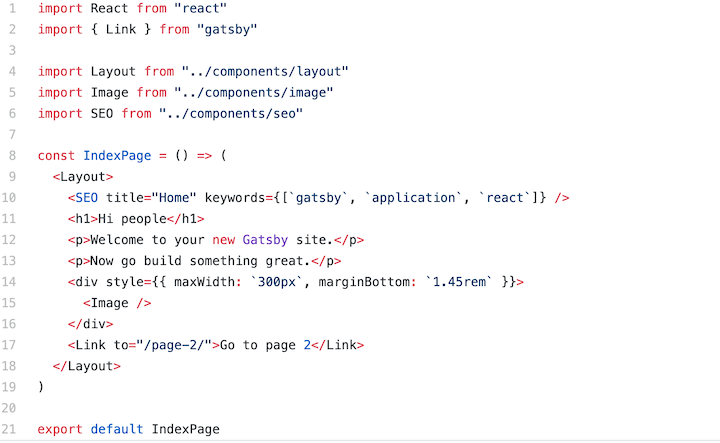 GatsbyJS Example: Pages Directory
