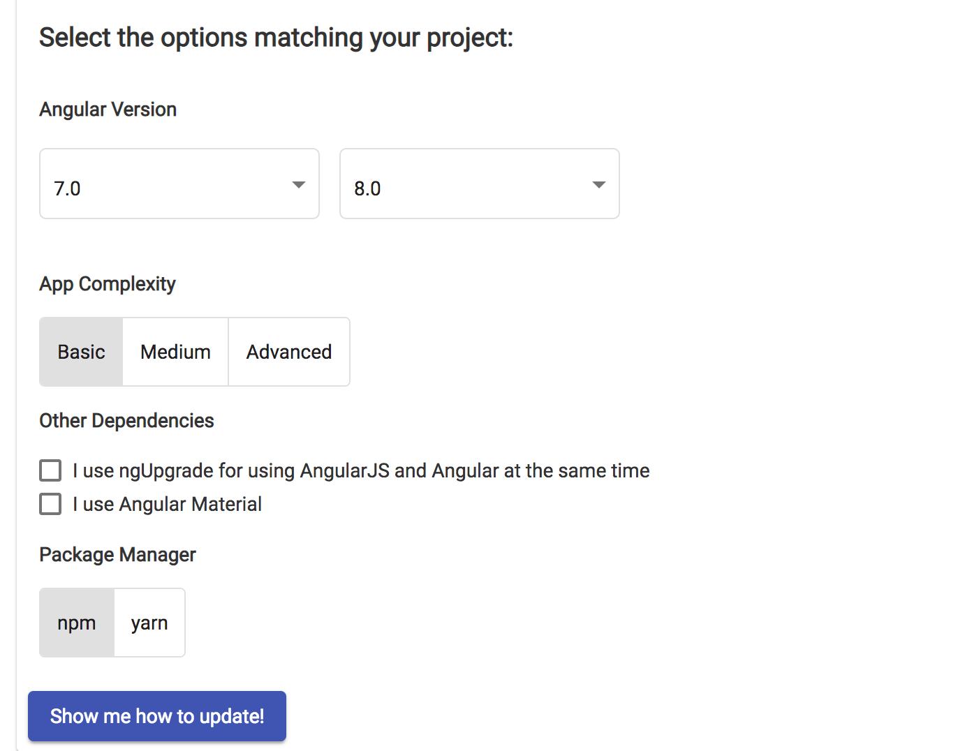 Angular's Update Page