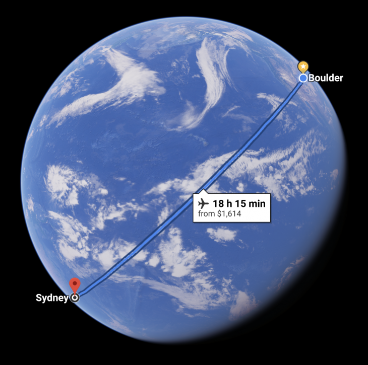Distance Between Sydney And Boulder