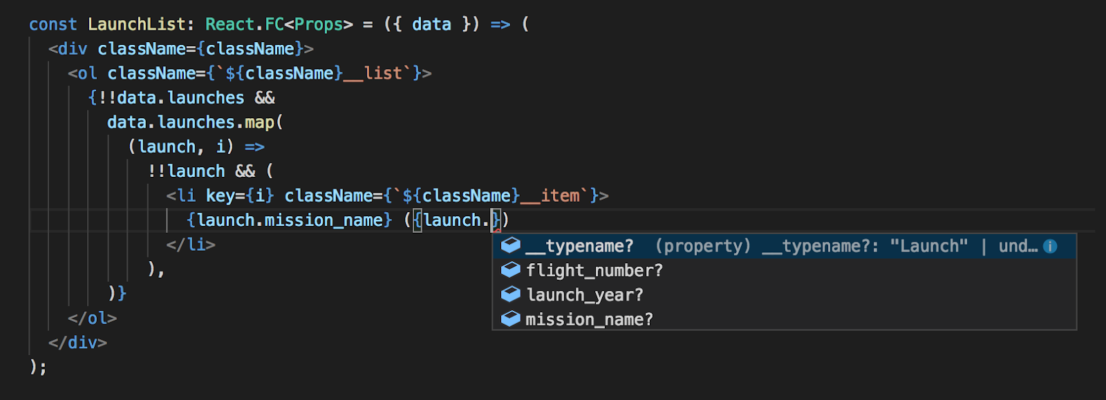 Autocompleted List Of Values In VS Code