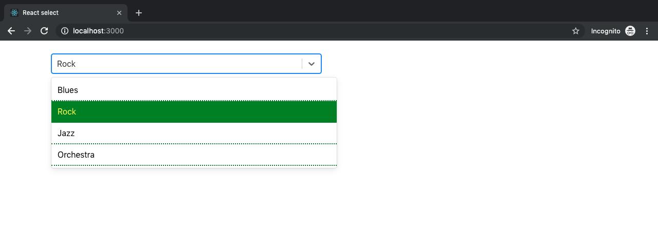 display options react-select