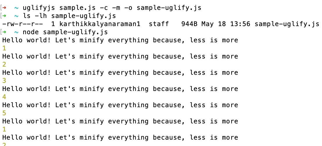 Sample-uglify.js File Output