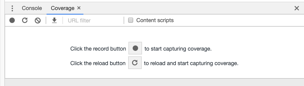 Coverage Capturing Options In DevTools