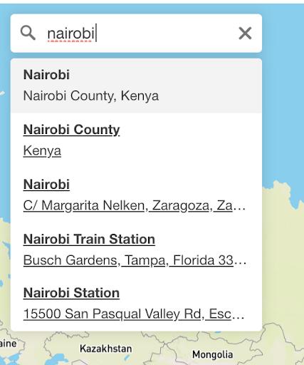 mapbox react gl location suggestion