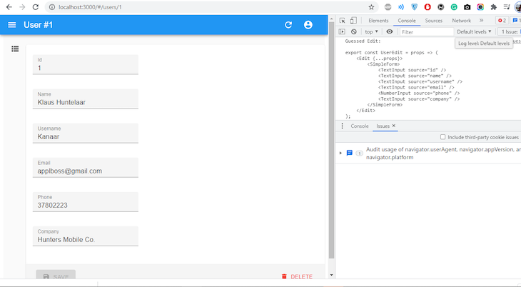 List after using EditGuesser, Shows List In Vertical Column With Code On The Right Side