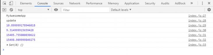 Profiler API Results In The Console