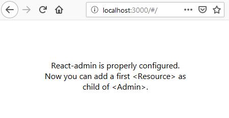 react admin panel interface