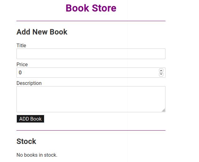 Building a Svelte app bookstore example