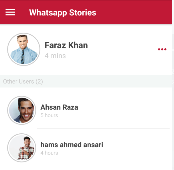 List Of User Stories