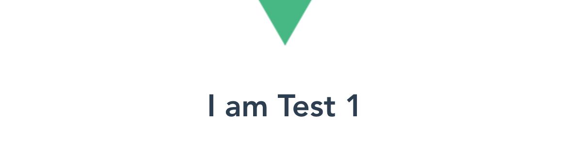 Test 1 component Vue