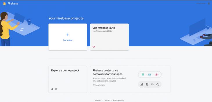 Firebase Vue Authentication Google Set Up