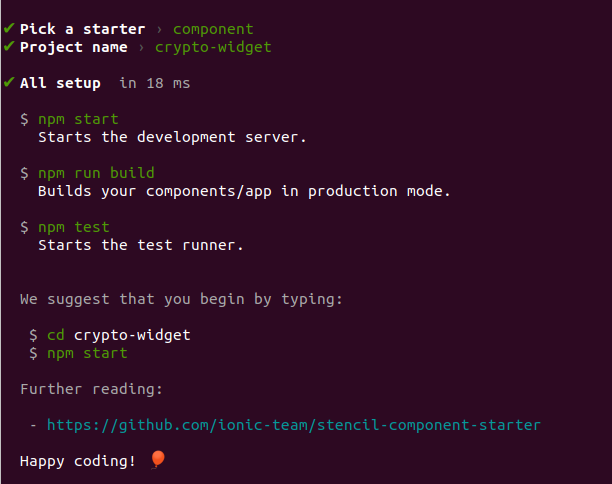 complete generate component