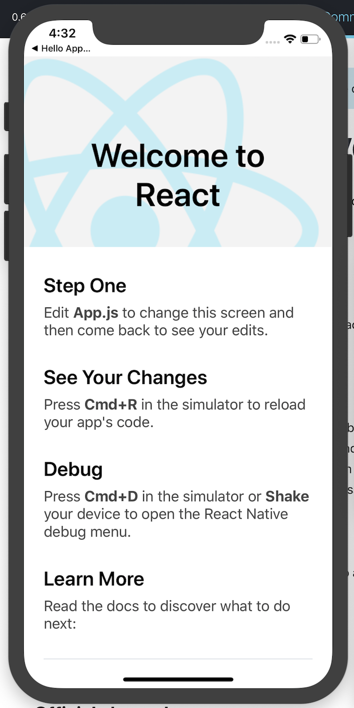 React Native Bootstrapped Application