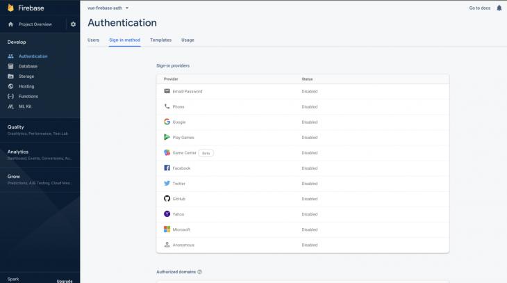 Firebase-Vue-authentication-s