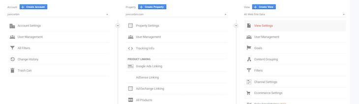 Google Analytics View Settings