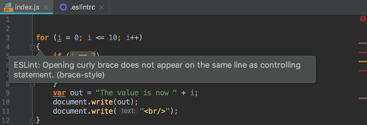 Example Of Using A Linter