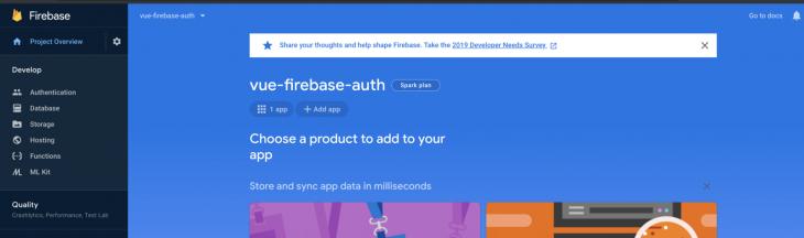vue firebase authentication web icon