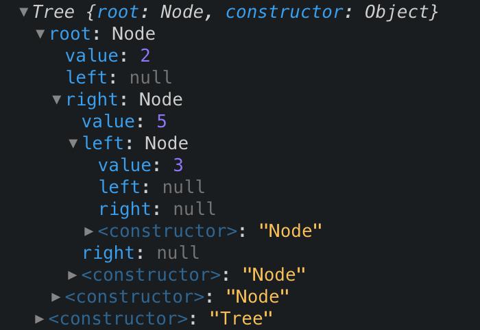 javascript data structure binary search tree code