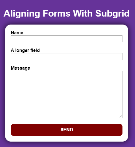 Aligned Inputs Without Subgrid
