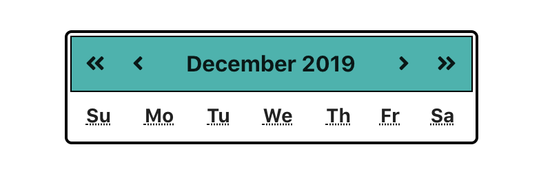 calendar before the dates are generated