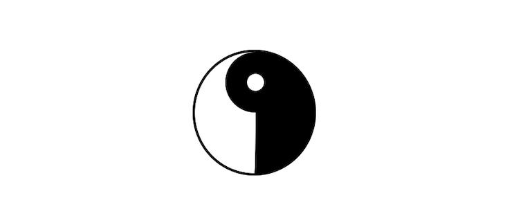 Yin-Yang Symbol Inner Circle Built With Pure CSS