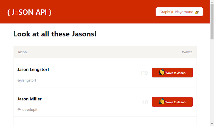 JaSON API While Loading