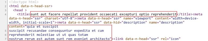 Title And Meta Tag In Page Source