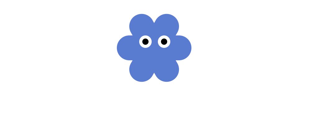 flower with eyes CSS