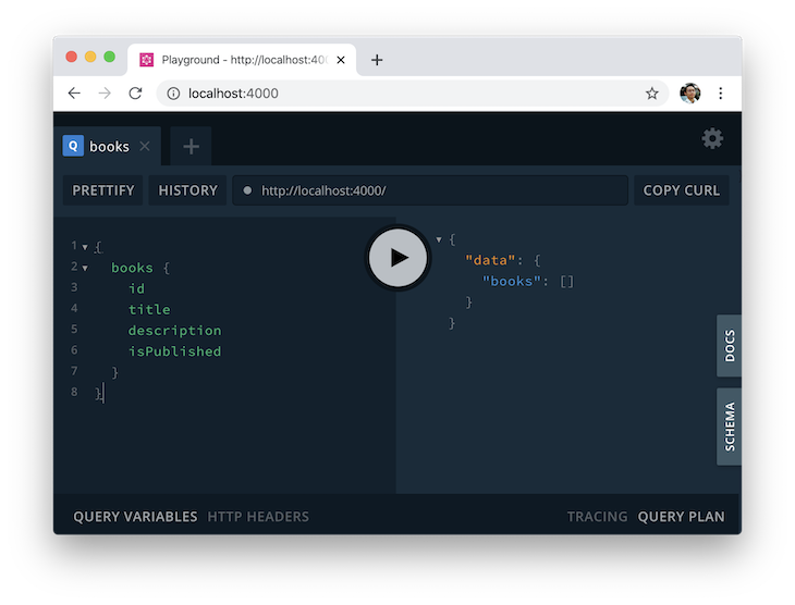 Database CRUD Query in GraphQL