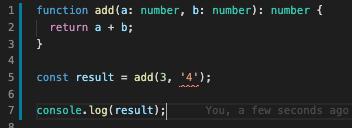 typescript error in vscode