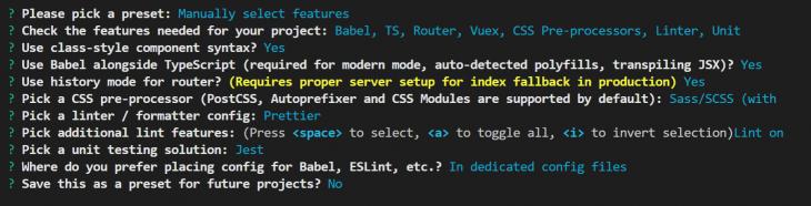 Vue + TypeScript App Configuration
