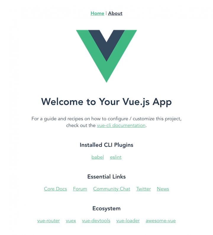 Vue.js App Welcome Page