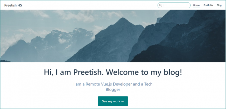 Blog Homepage Styled With Custom CSS