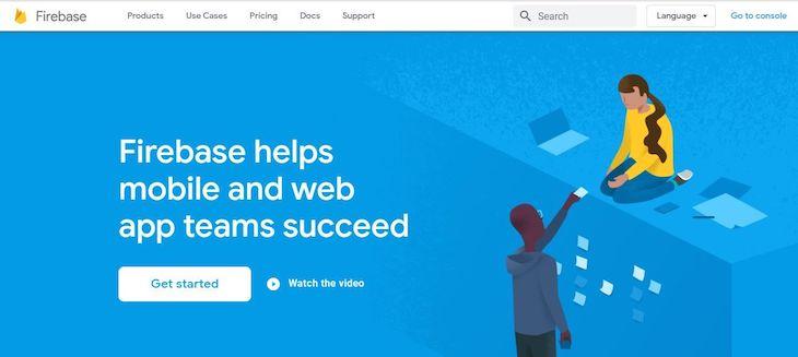 The Firebase Homepage