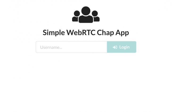 WebRTC chat app loader