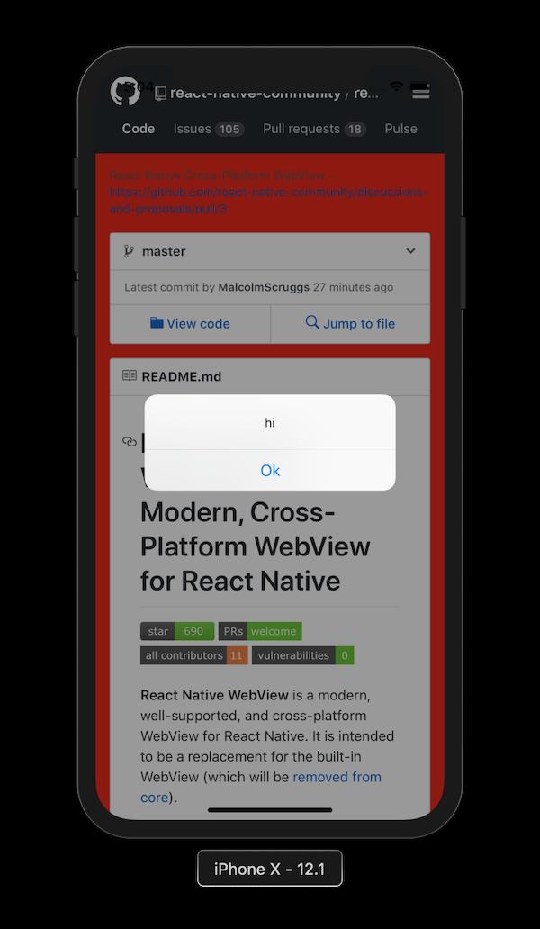 React Native WebView injectedJavaScript Prop In Action