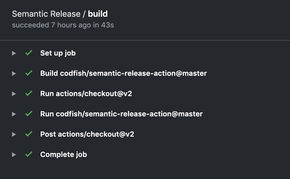semantic release build