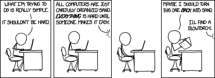 Cartoon Depicting Frustrated Software Engineer