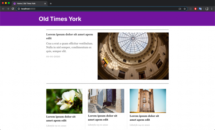 ui with article components added