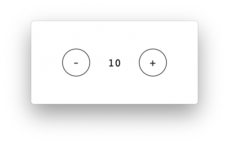The basic React counter app.