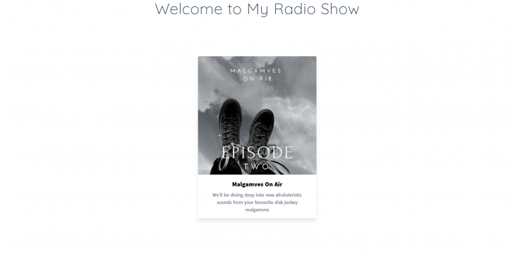 An image of the Malgamves On Air radio show home page.