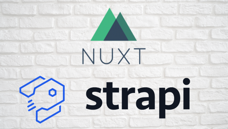 An image of the Nuxt and Strapi logos.