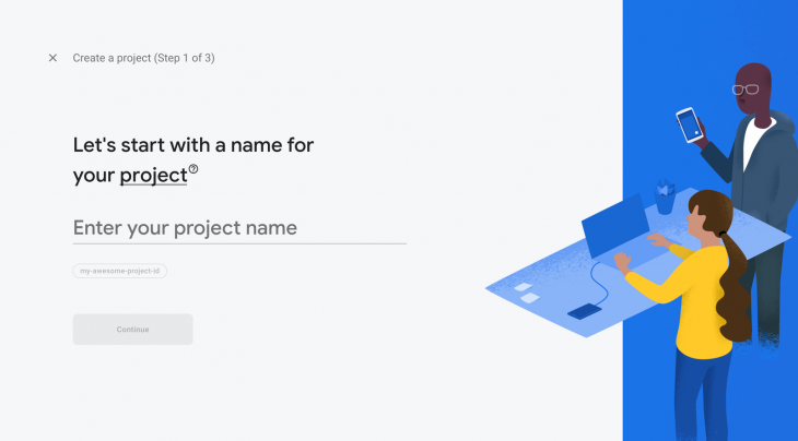 Add a Project in Firebase