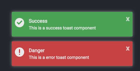 Success and Error Prompts Upon Starting the Toast Server