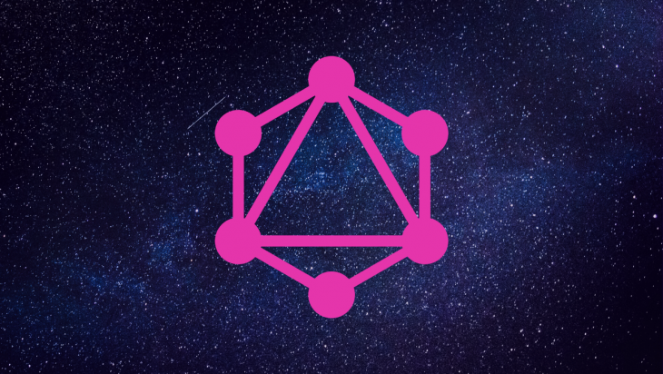 The GraphQL logo set against a space background.