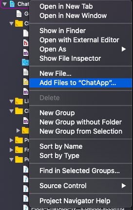 add files to chat app